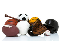 Sports Equipment Isolated On W...