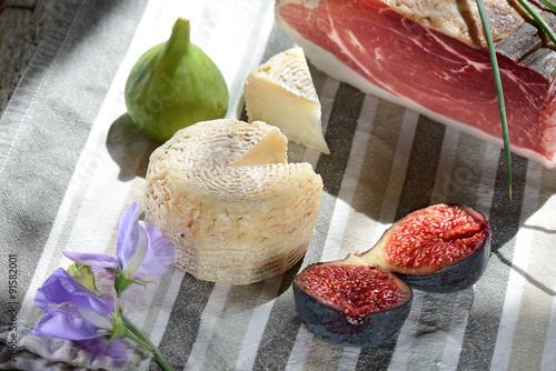 Fotografie, Obraz  fichi formaggio e speck