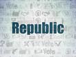 Politics concept: Republic on Digital Paper background