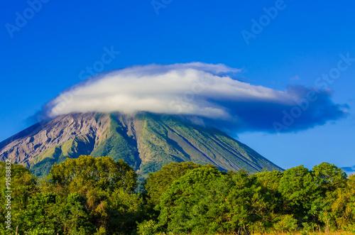 Fotomural Island Ometepe with vulcano in Nicaragua