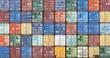 Leinwandbild Motiv Container im Hafen von Antwerpen, Belgien