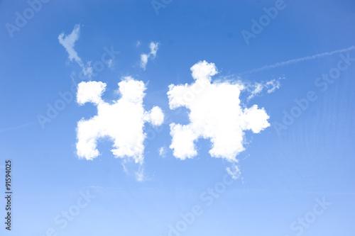 Fotografía  Team Zusammenarbeit Konzept Wolken