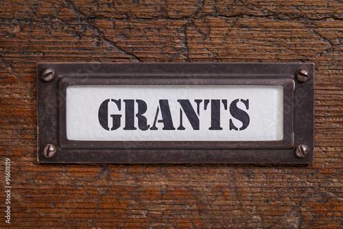 Fotografering  grants file cabinet label