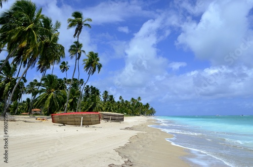 Photo  Beautiful tropical beach in Brazil, Maragogi, Alagoas, Nordeste