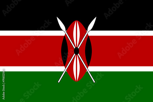 Flag of Kenya Poster Mural XXL