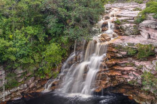 Valokuvatapetti Cachoeira do Poço do Diabo – Chapada Diamantina – Bahia – Brasil