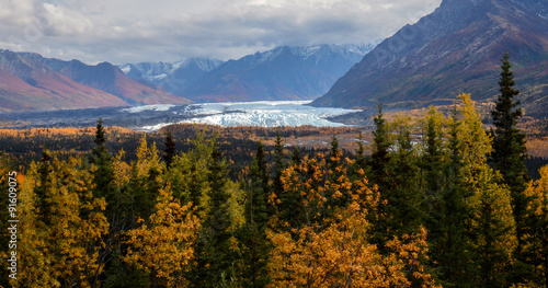 Fotografie, Obraz Matanuska Glacier on a fall day in September