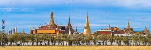 In de dag Bangkok Wat Phra Kaew, Temple of the Emerald Buddha, Bangkok, Thailand.