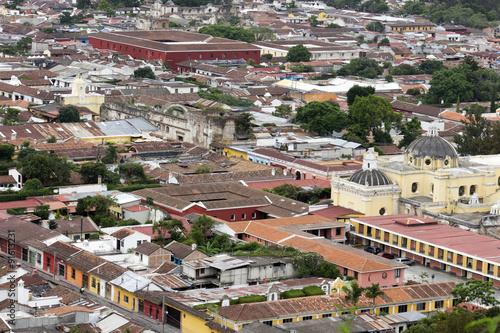 Techos de teja en Antigua Guatemala - Buy this stock photo