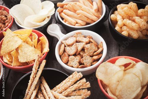 Foto op Canvas Buffet, Bar Salty snacks