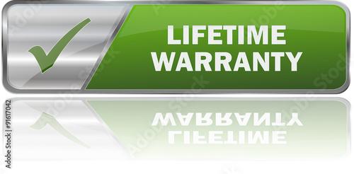 Fotografía  modern green lifetime warranty 3D vector sign