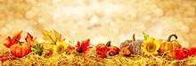 Hintergrund Herbstkarte