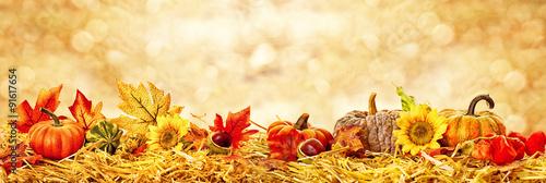 Poster Natuur Hintergrund Herbstkarte