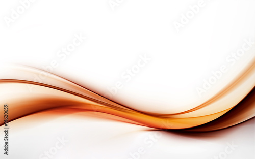 Staande foto Abstract wave elegant abstract orange wave