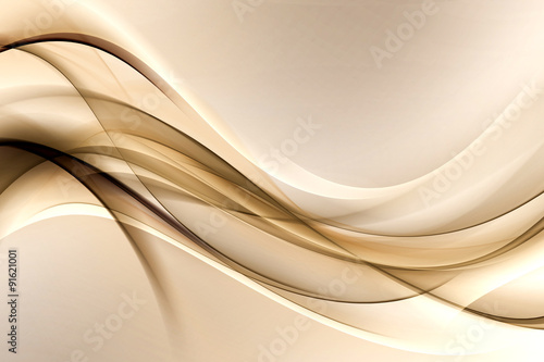 obraz dibond brown gold waves