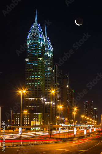 Photo  Nightlife in Dubai. UAE. November 18, 2012