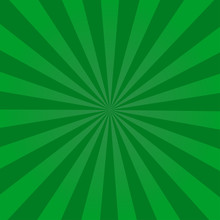 Ray Retro Background Green Colored Rays Stylish Illustration