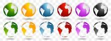 Bright Earth Globes Vector Design