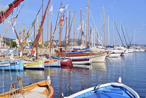 Foto op Aluminium Cyprus Port of Sanary-sur-Mer in France