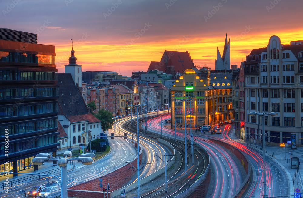 Fototapety, obrazy: Widok miejski Wrocławia