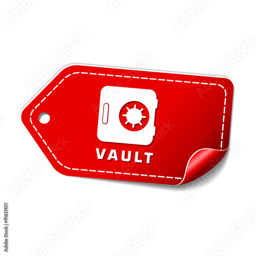 Vault Red Vector Icon Design - Buy this stock vector and