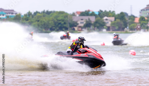 La pose en embrasure Nautique motorise Jetski Northeastern Thailand Championship 2015