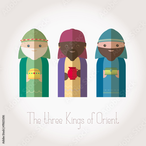 The three Kings of Orient wisemen Poster Mural XXL