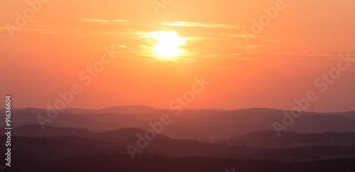 Canvas Prints Cuban Red german rothaargebirge forest sundown