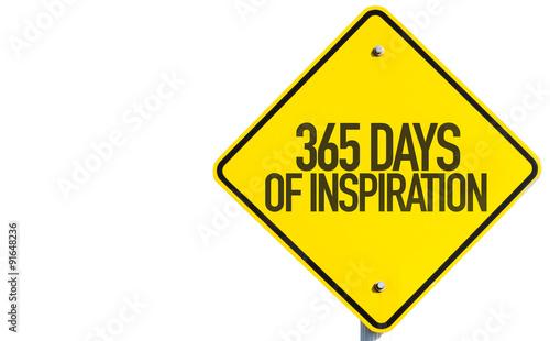 Fényképezés  365 Days of Inspiration sign isolated on white background