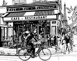 Stara kawiarnia w Paryżu - 91655811