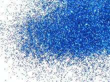Dark Blue Glitter Sparkle On White Background