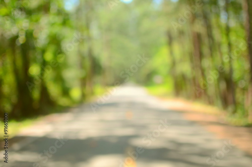 Fotografiet  Blur empty country road abstract background.