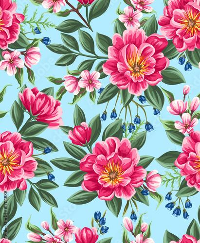 Floral seamless pattern Fotobehang