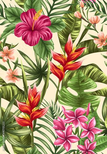 Floral seamless pattern - 91705251