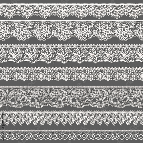 Lace borders Tablou Canvas
