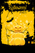 Leinwandbild Motiv Grungy Halloween Party Card