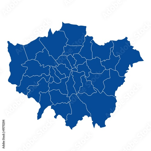 Fotografia Map of London