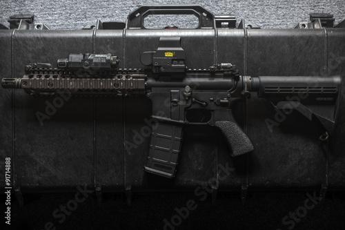 Foto op Plexiglas Motorsport assult rifle
