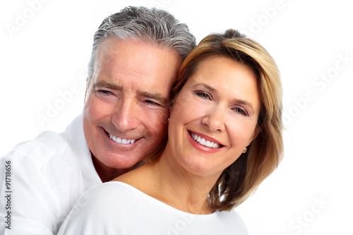 Happy smiling elderly couple. #91718656