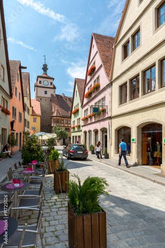 Fotobehang Praag Rothenburg ob der Tauber Germany