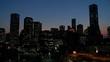The Houston skyline at dusk.