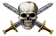 Cross Swords And Skull