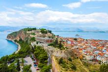 Aerial View Of Nafplio City, Greece