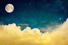 Full Moon And Cloudscape