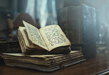 Antique Books With Old Cyrilli...
