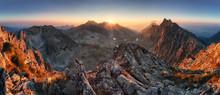 Sunset Panorama Mountain Natur...