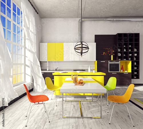 Fototapety, obrazy: Kitchen unit in the interior