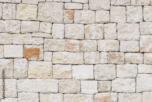 In de dag Stenen Stein Fassade Weiß Rustikal Hintergrund Textur