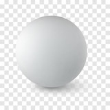 Sphere on white background