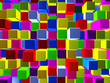 Background consisting of cubes